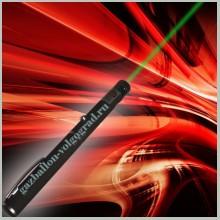 Зеленая лазерная указка 100 мВт с 4 насадками